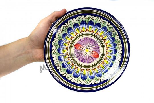 Тарелка (фарфор) 22 см НАКША Синяя