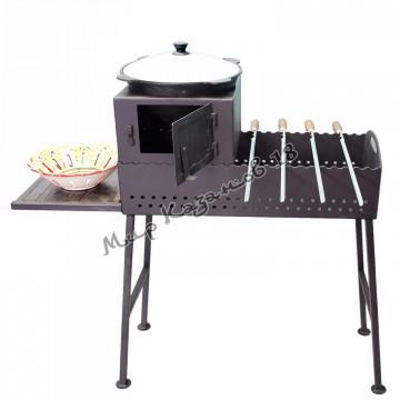 Печь без трубы для мангала шириной 30 см, сталь 4 мм