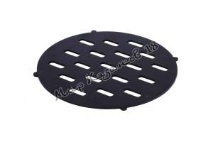Решетка 30 см для печи с трубой от мангала, сталь 4 мм