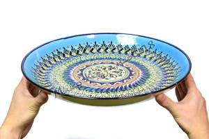 Ляган керамический 38 см Синий оригинал