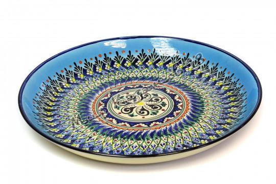 Ляган керамический 38 см Синий, Оригинальный