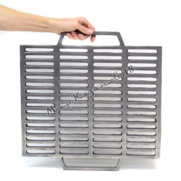 Чугунная решетка гриль квадратная 50х50 см