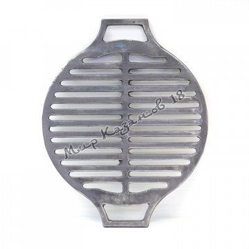 Чугунная решетка гриль круглая, диаметр 44 см