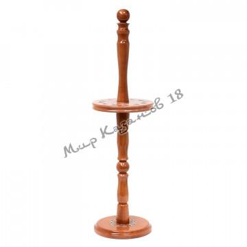 Подставка для 12 шампуров, деревянная стойка
