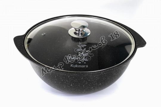 Казан Kukmara 4,5 л АП покрытие Тёмный мрамор