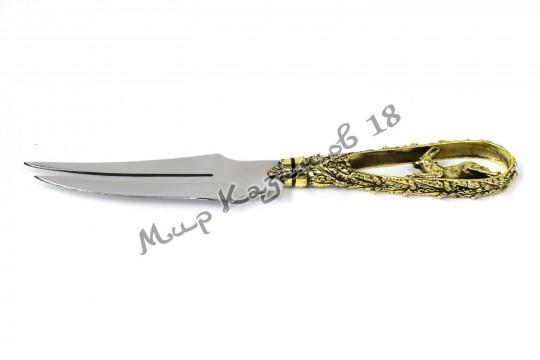 Подарочная вилка-нож Интересные звери (литьё)