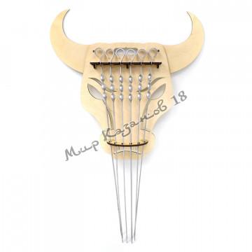 Настенный держатель Бык для шампуров с ручкой-кольцом