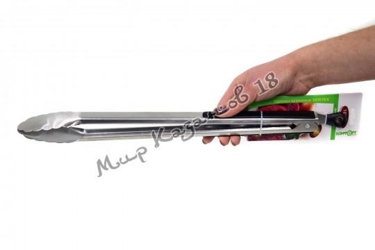 Щипцы металлические 45 см с резиновыми накладками на ручках
