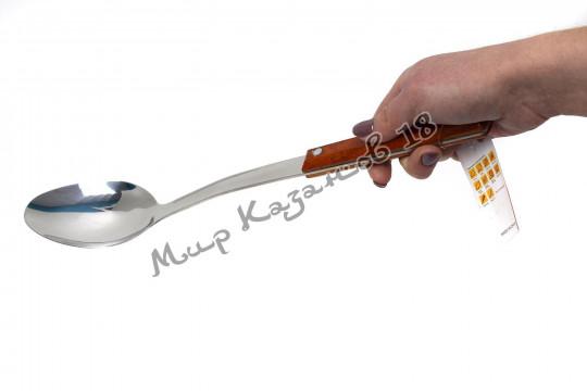 Большая ложка 37 см с деревянной ручкой