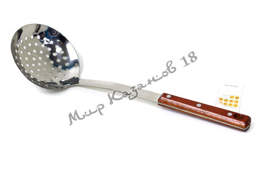 Шумовка 37 см с деревянной ручкой