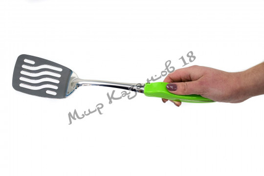 Лопатка 37 см с зелёной пластиковой ручкой