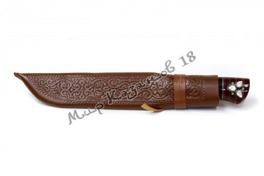 Пчак средний, рукоять Текстолит с садафом, гарда олово, сталь ШХ 15