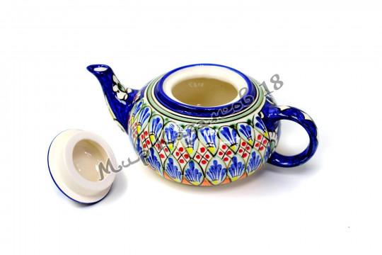 Чайник (фарфор) 0,6 л НАКША синий