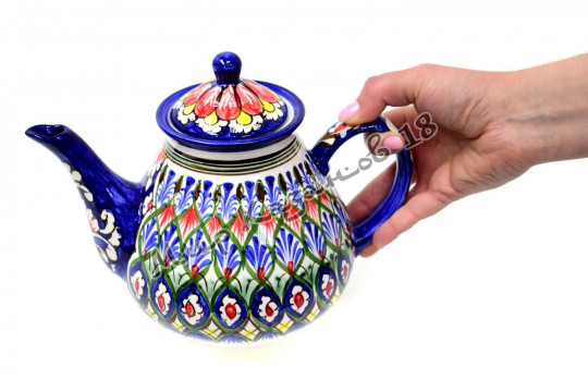 Чайник (фарфор) 1,7 л НАКША синий