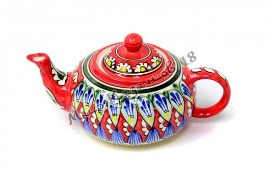 Чайник (фарфор) 0,6 л НАКША красный