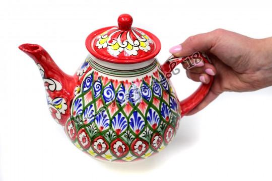 Чайник (фарфор) 1,7 л НАКША красный
