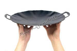 Садж 30 см Воронёная сталь