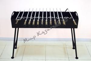 Мангал 100х30см со съемными ножками, сталь 4мм