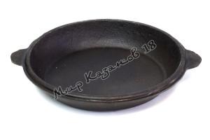 Крышка-сковорода чугунная для 10 л казана, Узбекистан