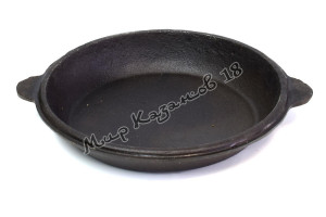 Крышка-сковорода чугунная для 16 л казана, Узбекистан