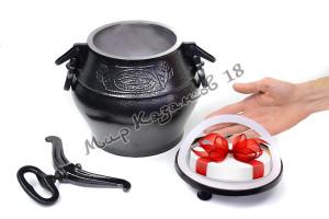 Афганский казан (графит) 12 л + подарок