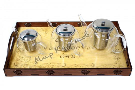 Заварочный чайник 600 мл из стекла