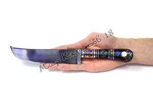 Пчак средний, рукоять Эбонит с цв. вставками, гарда мельхиор, сталь ШХ 15