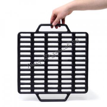 Чугунная решетка гриль квадратная 40х44 см