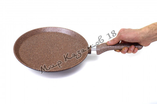 Сковорода блинная 26 см ГРАНИТ, цв. коричн.