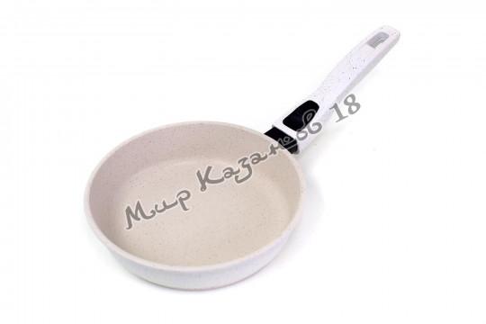 Сковорода глубокая 22 см ГРАНИТ, цвет крем, без кр., съемная ручка