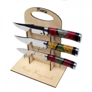 Нож, рукоять стаб. карельская береза, гарда олово, нержавейка