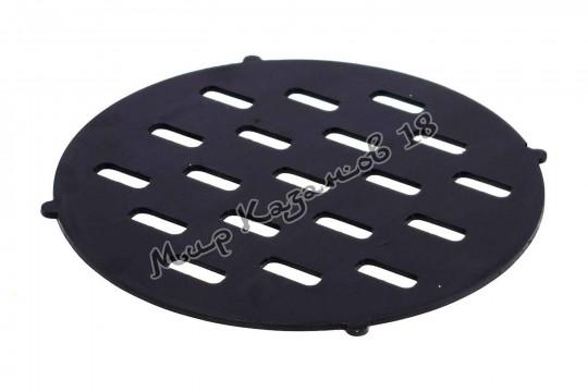 Решетка 35 см для печи с трубой от мангала, сталь 4 мм