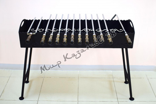 Мангал 100х35см со съемными ножками, сталь 4мм