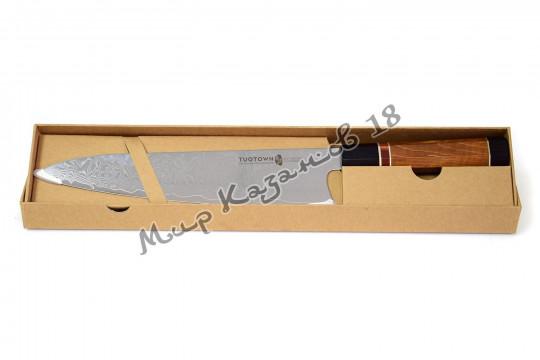 Кухонный шеф-нож (Гуйто) Tuotown, рукоять дерево, сталь VG-10