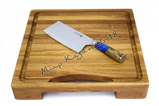 Кухонный топорик Tuotown SG-002, рукоять дерево+эпоксидка, сталь VG-10
