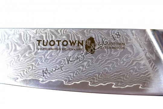 Нож хозяйственный Tuotown SG-003, рукоять дерево+эпоксидка, сталь VG-10