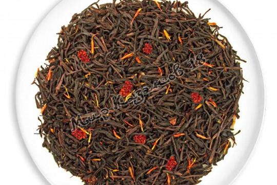 Чай Клубника со сливками чёрный (Premium) 100г
