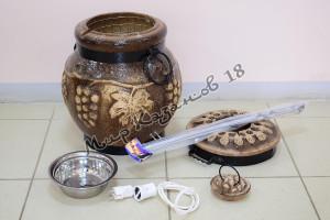 Тандыр Виноград электрический+подарки (шампуры, подставка под тандыр)