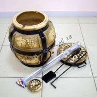 Тандыр малый (дрова)+подарки (лопатка, кочерга, шампуры, подставка)