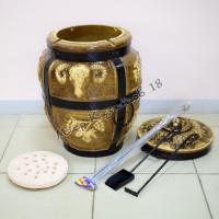 Тандыр средний Баран (дрова)+подарки (лопатка, кочерга, шампуры, подставка)