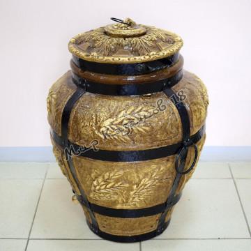 Тандыр большой Колос (дрова)+подарки (лопатка, кочерга, шампуры, подставка)
