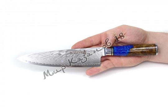 Нож универсальный Tuotown DM003, рукоять дерево+эпоксидка, сталь VG-10
