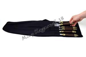 Походный чехол на 8 шампуров до 50 см Чёрный