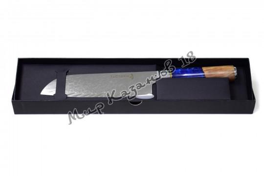Нож для нарезки (Сантоку) Tuotown TWB-D6, рукоять дерево+эпоксидка, сталь VG-10