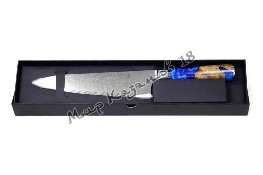 Кухонный шеф-нож (Гуйто) Tuotown TWB-D7, рукоять дерево+эпоксидка, сталь VG-10