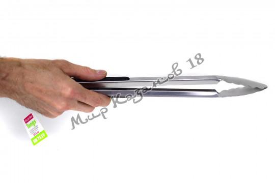 Щипцы металлические 35,5 см с резиновыми накладками на ручках