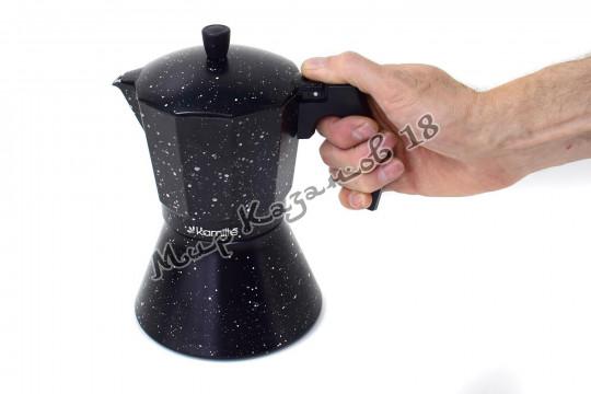 Кофеварка гейзерная Kamille 450 мл (9 порций, подходит для индукции)