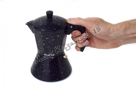 Кофеварка гейзерная Kamille 300 мл (6 порций, подходит для индукции)