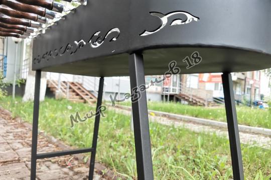 Мангал 90х33 с подказанником, сталь 3 мм, съемные ножки