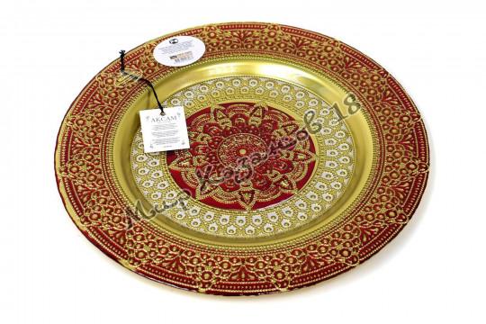 Тарелка большая ЖАСМИН 32 см красная